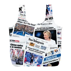 Hillary 2016 Historic Newspaper Collage Full Print Recycle Bags (L)