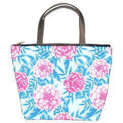 Blue & Pink Floral Bucket Bags