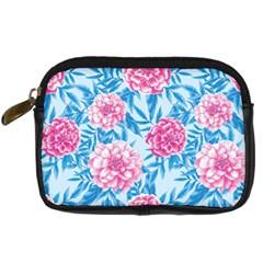 Blue & Pink Floral Digital Camera Cases