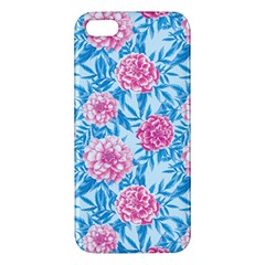 Blue & Pink Floral Apple iPhone 5 Premium Hardshell Case