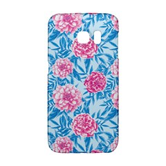 Blue & Pink Floral Galaxy S6 Edge
