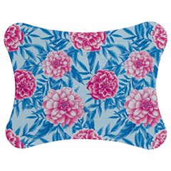 Blue & Pink Floral Jigsaw Puzzle Photo Stand (Bow)