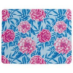 Blue & Pink Floral Jigsaw Puzzle Photo Stand (Rectangular)