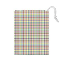 Checked Drawstring Pouches (Large)