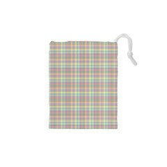 Checked Drawstring Pouches (xs)