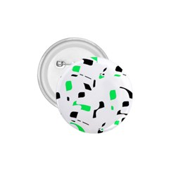 Green, black and white pattern 1.75  Buttons