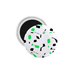Green, black and white pattern 1.75  Magnets