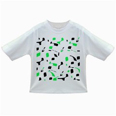 Green, black and white pattern Infant/Toddler T-Shirts