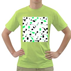 Green, black and white pattern Green T-Shirt