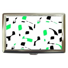 Green, black and white pattern Cigarette Money Cases