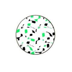 Green, black and white pattern Hat Clip Ball Marker (10 pack)