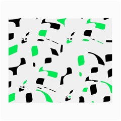 Green, Black And White Pattern Small Glasses Cloth