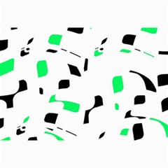 Green, black and white pattern Collage Prints