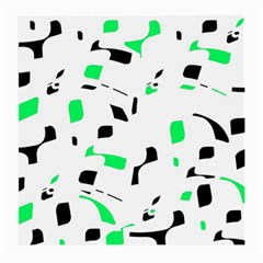 Green, black and white pattern Medium Glasses Cloth (2-Side)