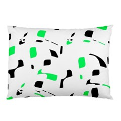Green, black and white pattern Pillow Case
