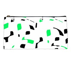 Green, black and white pattern Pencil Cases