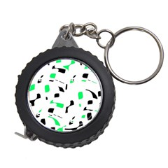 Green, black and white pattern Measuring Tapes