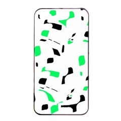 Green, black and white pattern Apple iPhone 4/4s Seamless Case (Black)