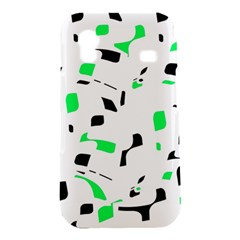Green, black and white pattern Samsung Galaxy Ace S5830 Hardshell Case