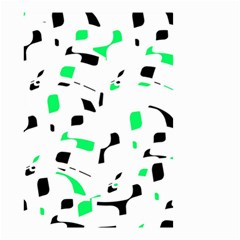 Green, black and white pattern Small Garden Flag (Two Sides)