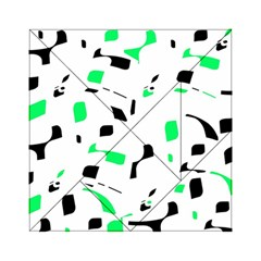 Green, black and white pattern Acrylic Tangram Puzzle (6  x 6 )