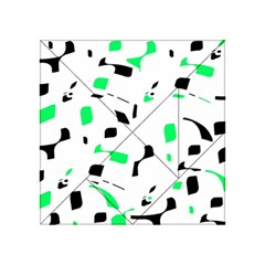 Green, black and white pattern Acrylic Tangram Puzzle (4  x 4 )