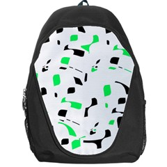 Green, black and white pattern Backpack Bag