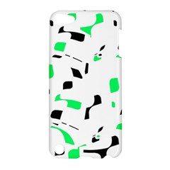 Green, black and white pattern Apple iPod Touch 5 Hardshell Case