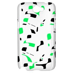 Green, black and white pattern Samsung Galaxy Note 2 Hardshell Case