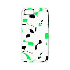 Green, black and white pattern Apple iPhone 5 Classic Hardshell Case (PC+Silicone)