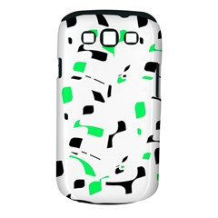 Green, black and white pattern Samsung Galaxy S III Classic Hardshell Case (PC+Silicone)
