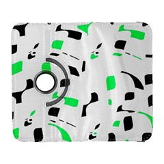 Green, black and white pattern Samsung Galaxy S  III Flip 360 Case