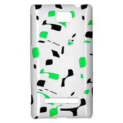 Green, black and white pattern HTC 8S Hardshell Case