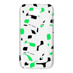 Green, black and white pattern Samsung Galaxy Premier I9260 Hardshell Case