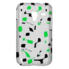 Green, black and white pattern Samsung Galaxy Ace Plus S7500 Hardshell Case