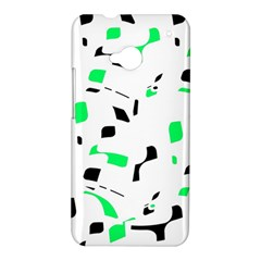 Green, black and white pattern HTC One M7 Hardshell Case
