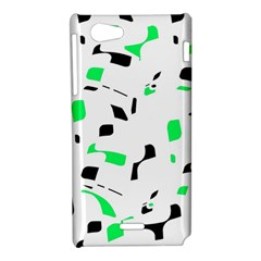 Green, black and white pattern Sony Xperia J
