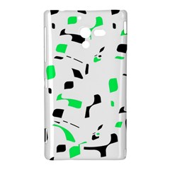 Green, black and white pattern Sony Xperia ZL (L35H)