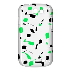 Green, black and white pattern Samsung Galaxy Express I8730 Hardshell Case