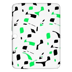 Green, black and white pattern Samsung Galaxy Tab 3 (10.1 ) P5200 Hardshell Case