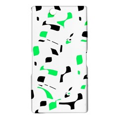 Green, black and white pattern Sony Xperia Z Ultra