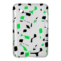 Green, black and white pattern Samsung Galaxy Tab 2 (7 ) P3100 Hardshell Case