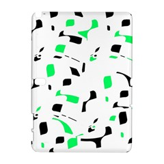 Green, black and white pattern Samsung Galaxy Note 10.1 (P600) Hardshell Case