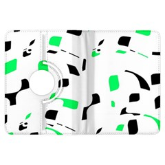 Green, black and white pattern Kindle Fire HDX Flip 360 Case