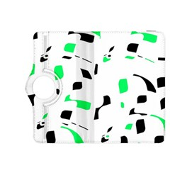 Green, black and white pattern Kindle Fire HDX 8.9  Flip 360 Case