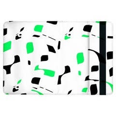Green, black and white pattern iPad Air Flip