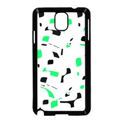 Green, black and white pattern Samsung Galaxy Note 3 Neo Hardshell Case (Black)