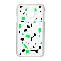 Green, black and white pattern Samsung Galaxy S5 Case (White)