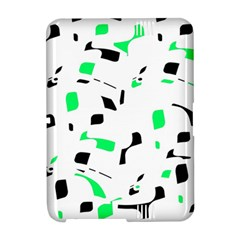 Green, black and white pattern Amazon Kindle Fire (2012) Hardshell Case