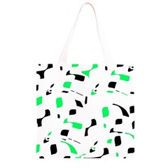 Green, black and white pattern Grocery Light Tote Bag